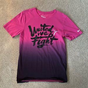 Nike Breast Cancer Shirt mens Dri fit small